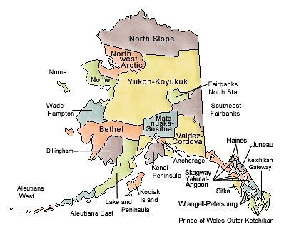 Map Of Alaska And County Map - Alaska county map