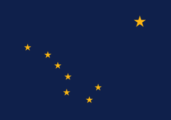 Big Picture of Alaska State Flag
