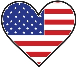 American flag picture - Heart design