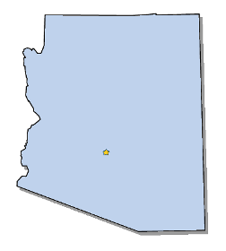 Map Of Arizona And County Map