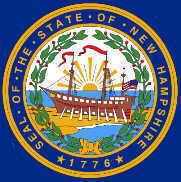Enlarged New Hampshire state flag