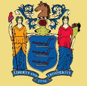 Enlargeed picture New Jersey state flag