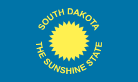 South Dakota Flag: 1909-1963