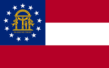 Big Picture of Georgia State Flag