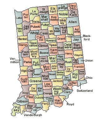 Knox County Indiana Map.Map Of Indiana And County Map