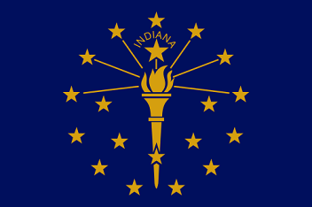 Big Picture of Indiana State Flag