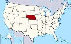 Map showing location of Nebraska in USA