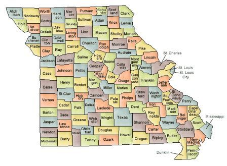 Map Of Missouri And County Map - Missouri county map