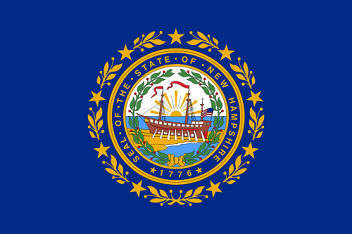 Big Picture of New Hampshire State Flag