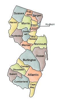 Map Of New Jersey And County Map - Map of new jersey counties