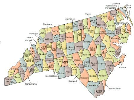 Map Of North Carolina And County Map - County map north carolina
