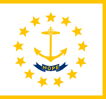 Big Picture of Rhode Island State Flag