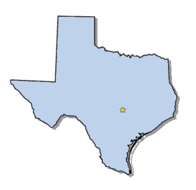 Texas State Map Outline