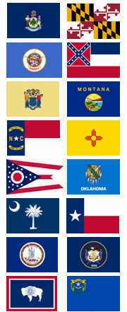 Flags from the 50 US States